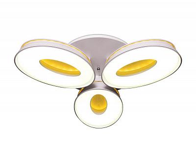 Потолочная светодиодная люстра Ambrella light Orbital Granule FG1020/3 WH 72W+36W D780
