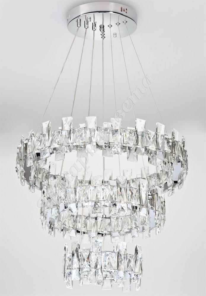 8006/50+34+20 CG  Круг Подвесной Светильник LED