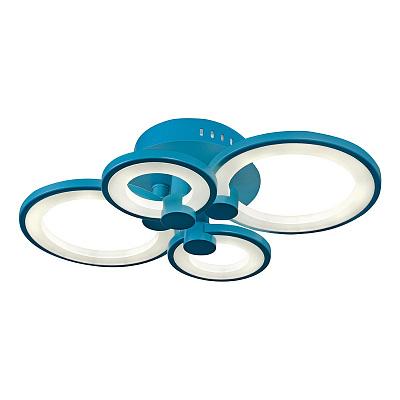 Потолочная светодиодная люстра iLedex Ring A001/4 Blue