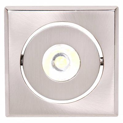 Встраиваемый светодиодный светильник Horoz Elena-1 1W 2700K матовый хром 016-010-0001 (HL670L)