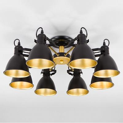 Потолочная люстра Eurosvet Denley 70112/8 черный
