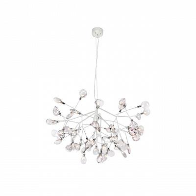 Подвесная светодиодная люстра Crystal Lux Evita SP63 White/Transparent