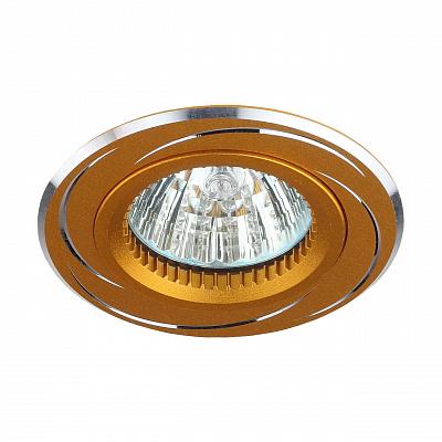 Встраиваемый светильник ЭРА Алюминиевый KL34 AL/GD C0043821