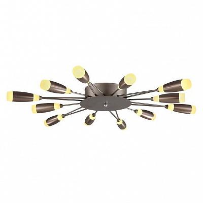 Потолочная светодиодная люстра Horoz Favori коричневая 019-008-0062