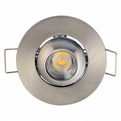 Встраиваемый светодиодный светильник Horoz Fiona 1W 2700К хром 016-028-0001