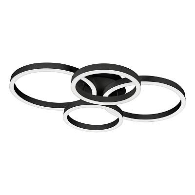Потолочная светодиодная люстра iLedex Ring-New 6815-300/400-X-T BK