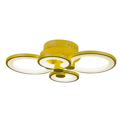 Потолочная светодиодная люстра iLedex Ring A001/4 Yellow