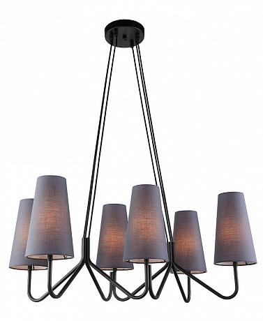 Подвесная люстра Lumien Hall Либера 4007/6P-BK-GR-BL
