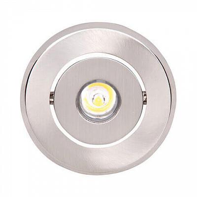 Встраиваемый светодиодный светильник Horoz Vera-1 1W 2700K матовый хром 016-011-0001 (HL671L)