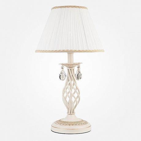 Настольная лампа Eurosvet 10054/1 белый с золотом/прозрачный хрусталь Strotskis