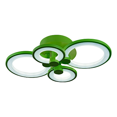 Потолочная светодиодная люстра iLedex Ring A001/4 Green
